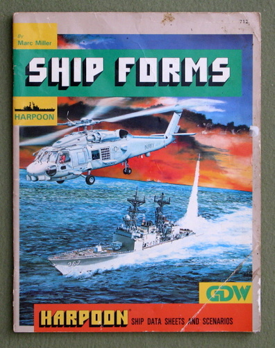 Ship Forms (Harpoon naval war game supplement) - PLAY COPY, Marc Miller