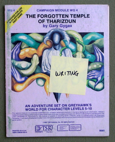 The Forgotten Temple of Tharizdun (Advanced Dungeons & Dragons module WG4) - PLAY COPY, Gary Gygax