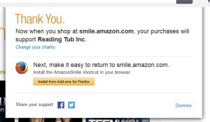 amazonsmile thanks you
