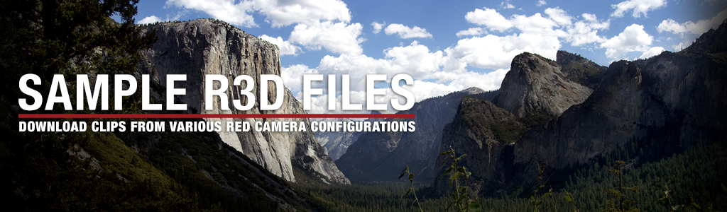 Sample R3D Files - Download clips from various RED camera configurations