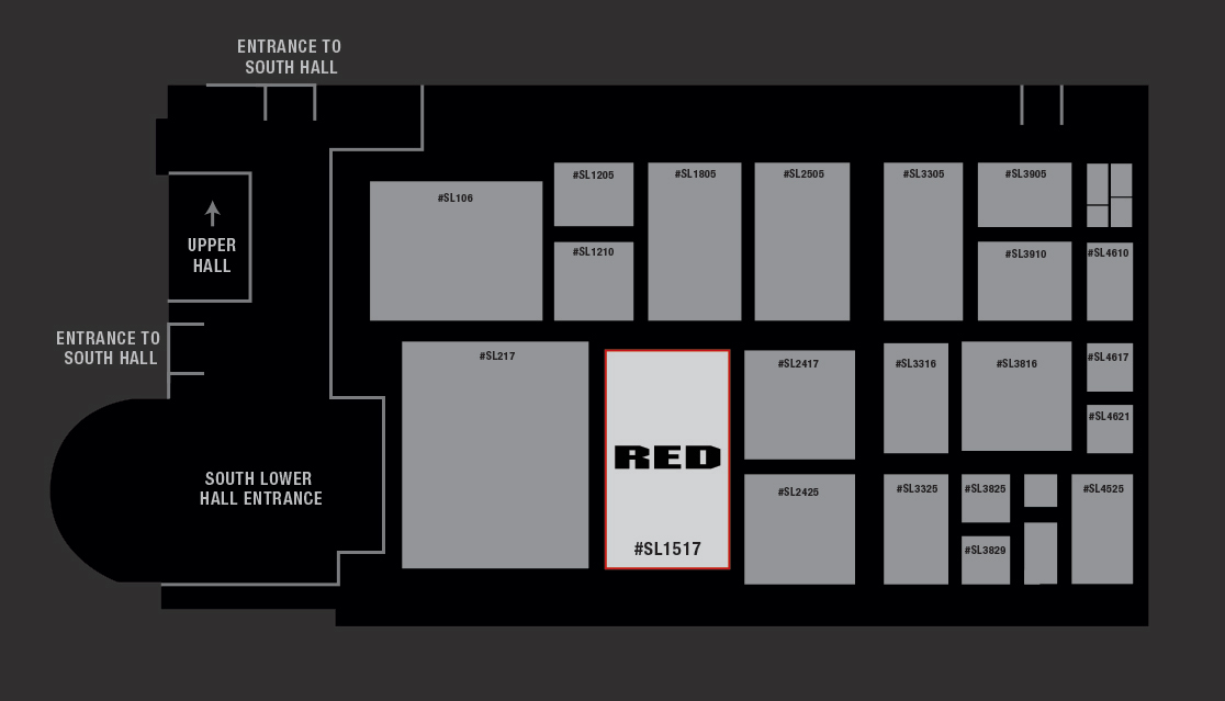 RED AT NAB 2016 - Booth Map