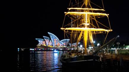 RedBalloon Vivid Sydney Tall Ship Dinner Cruise with Drinks - Weekend