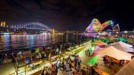RedBalloon Luxury Cruise during Vivid Sydney with Drink and Snacks