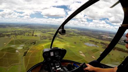 RedBalloon Private Helicopter Flight with Dessert and Wine Stop - For 2