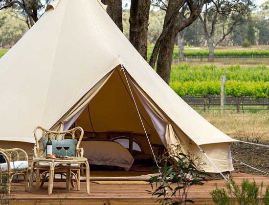 Luxury glamping in Bendigo