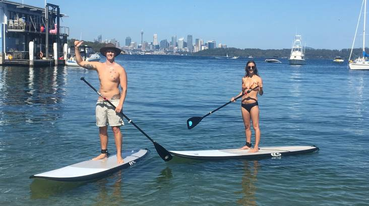 RedBalloon Private Stand Up Paddle Board Session with Seafood Lunch