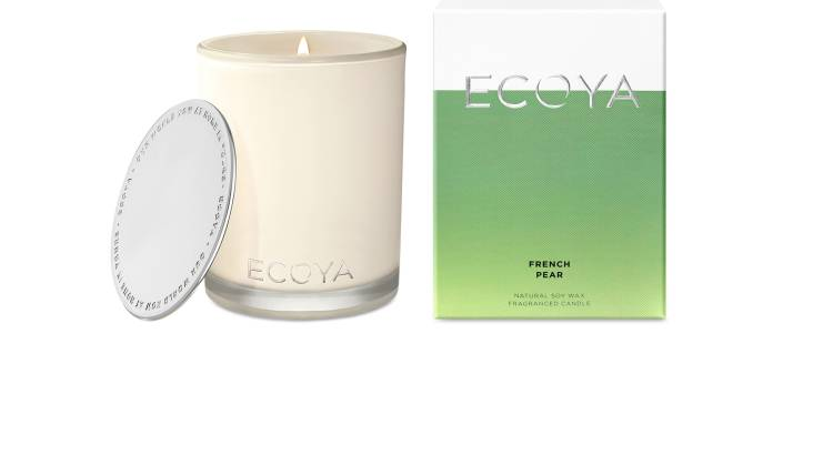 RedBalloon Ecoya Madison Natural Soy Wax Candle - French Pear