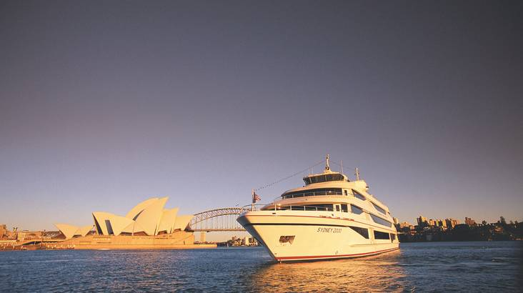RedBalloon Cruise on Sydney Harbour 2 Course Dinner And Drinks - For 2