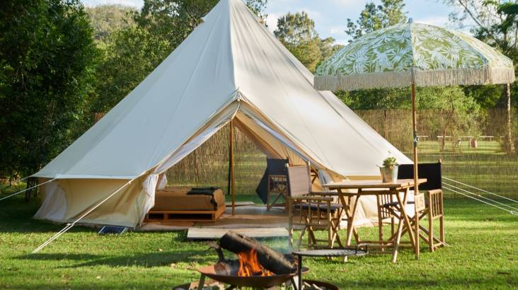 RedBalloon Shoalhaven River Glamping with Canoe Hire - 2 Nights - For 2