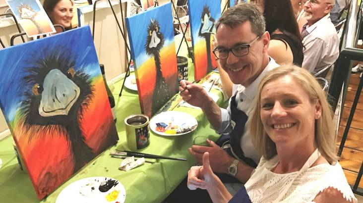 RedBalloon Paint, Sip and Create Class - QLD