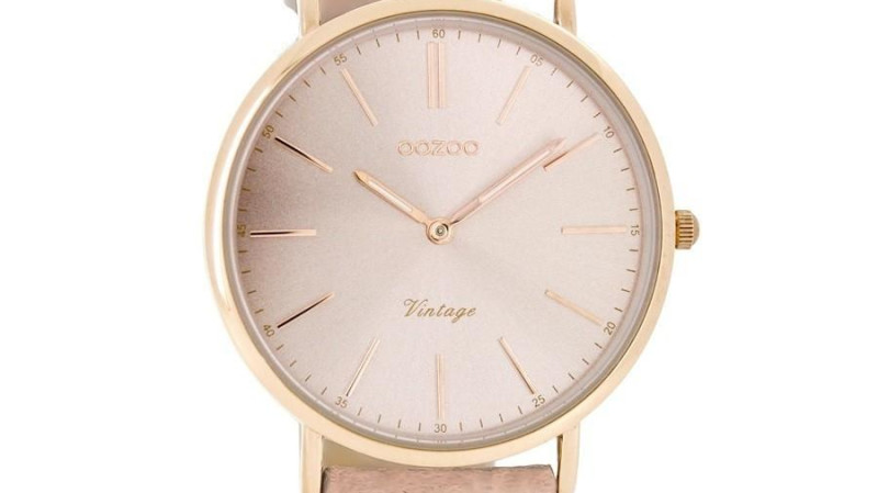 RedBalloon OOZOO C7372 - 36mm - Petite Slimline Vintage Style Watch - Blush Pink
