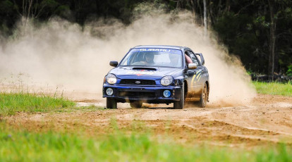 Suburu WRX car on off road track ipswitch