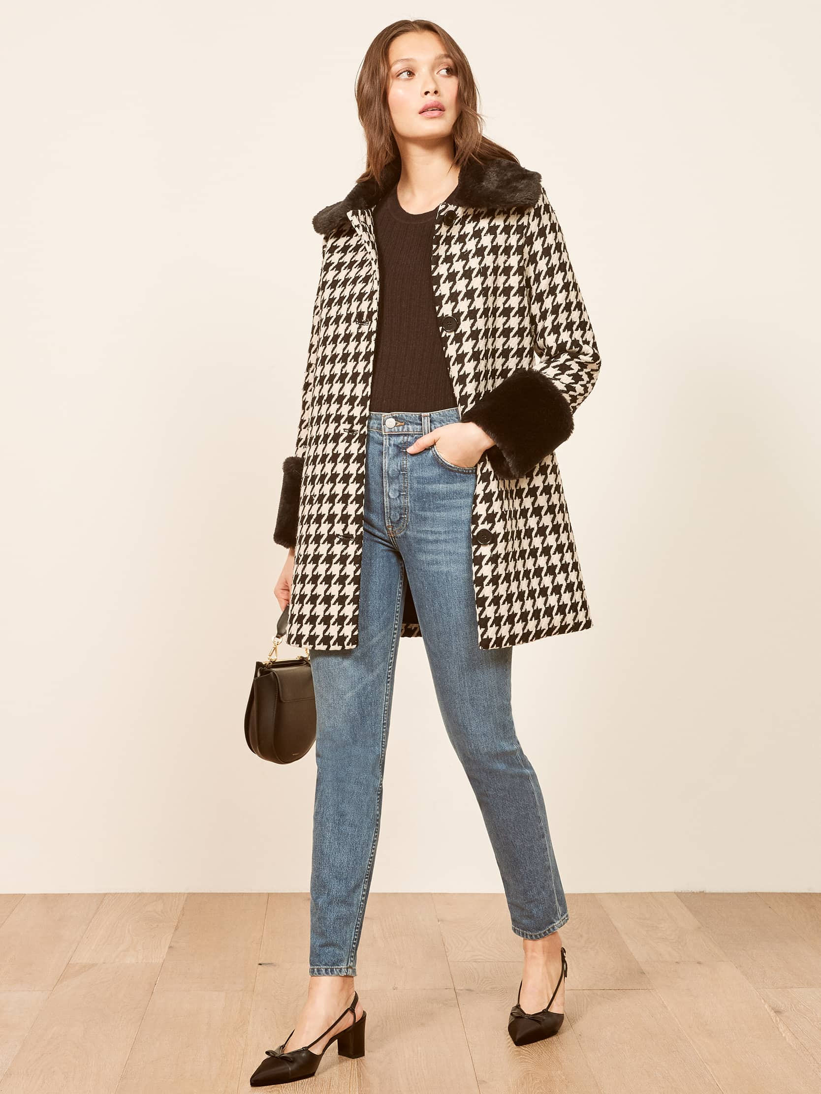 리포메이션 코트 Reformation Lucille Coat,Darby