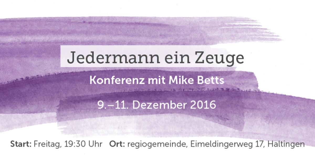 Minikonferenz: Jedermann ein Zeuge Event Flyer