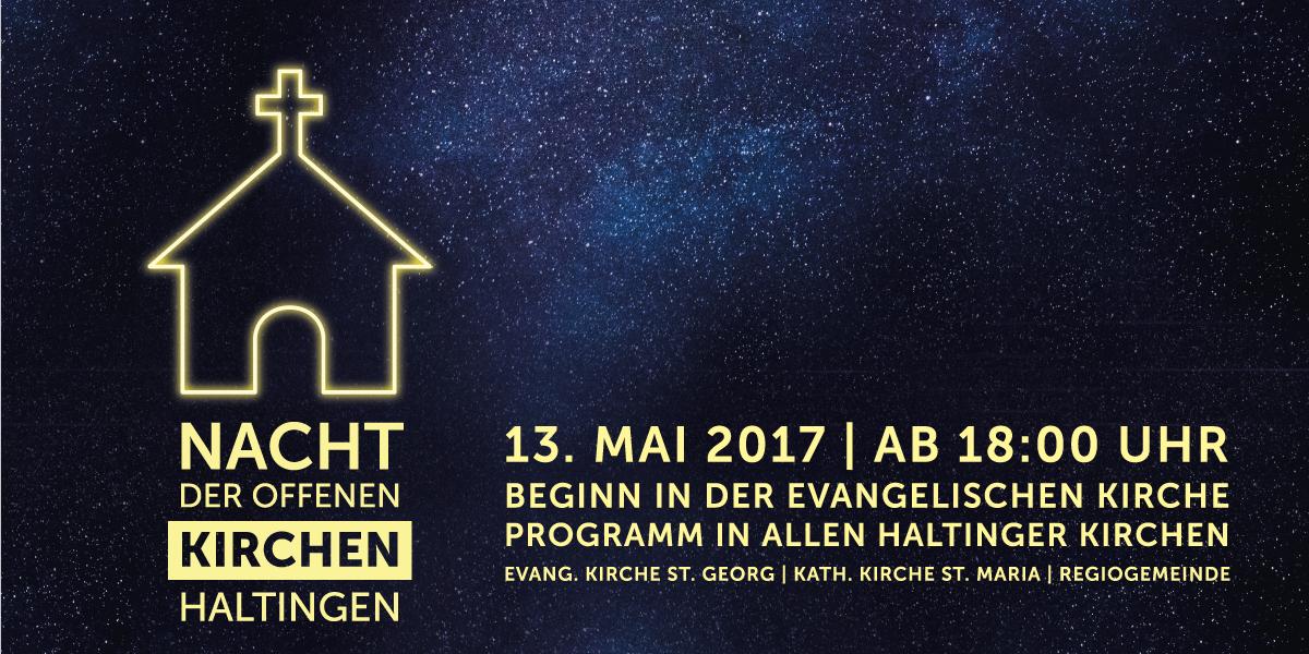 Nacht der offenen Kirchen Haltingen Event Flyer