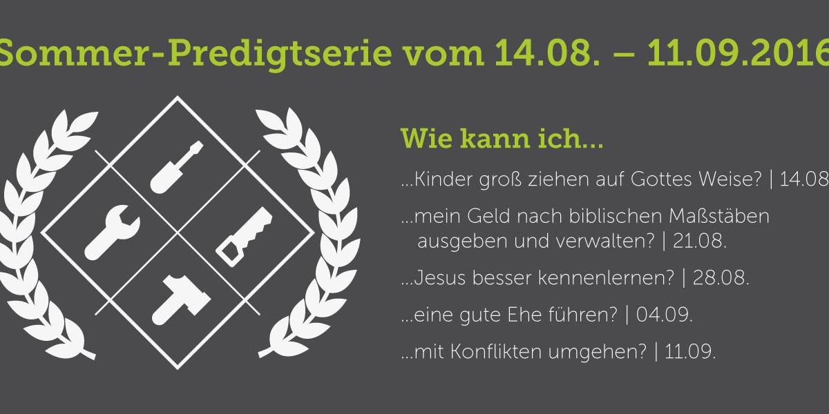 Sommerferien-Predigten Event Flyer