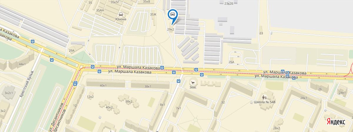 Карта проезда АвтоСТО