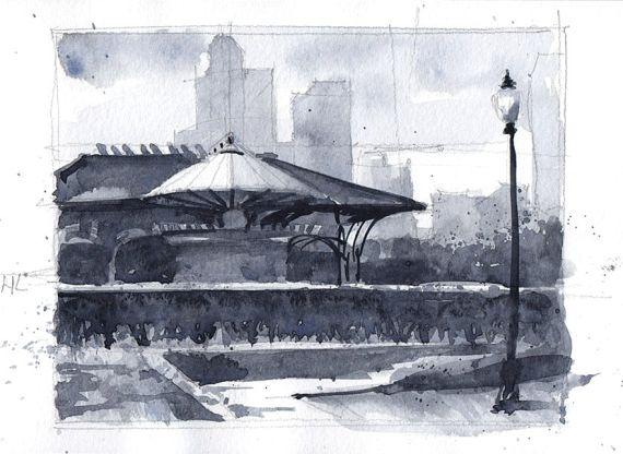 Sketch lanchonete Chicago