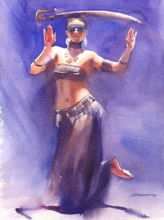 Dancer in violet