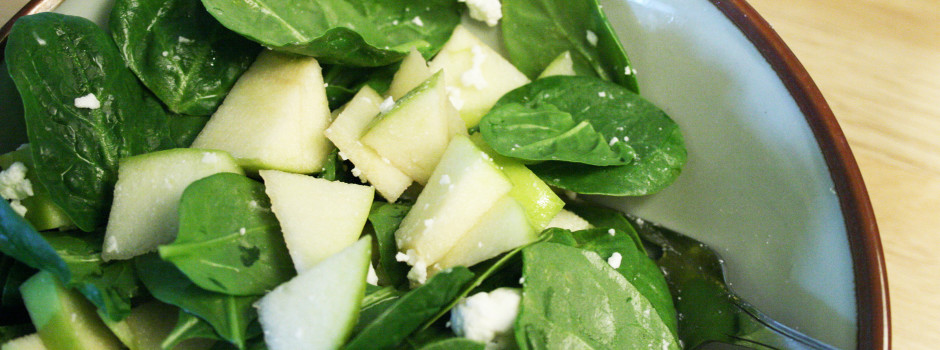 Spinach apple salad hero