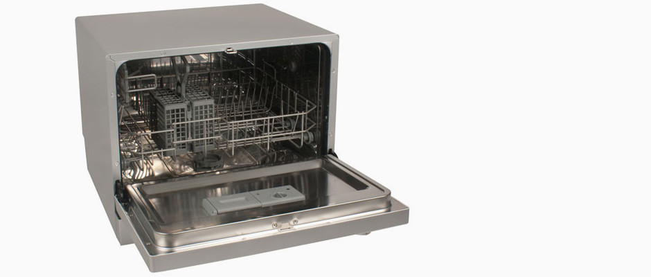 Countertop Dishwasher Hook Up : ... DWP61ES Countertop Dishwasher Review - Reviewed.com Dishwashers