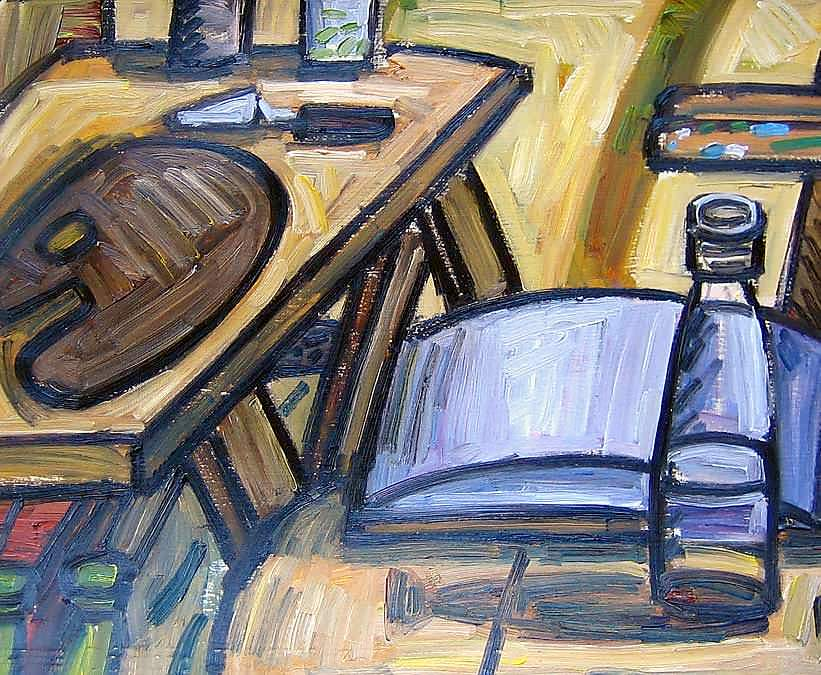 """Painting Table"", 2009, oil on paper, 22x27cm"