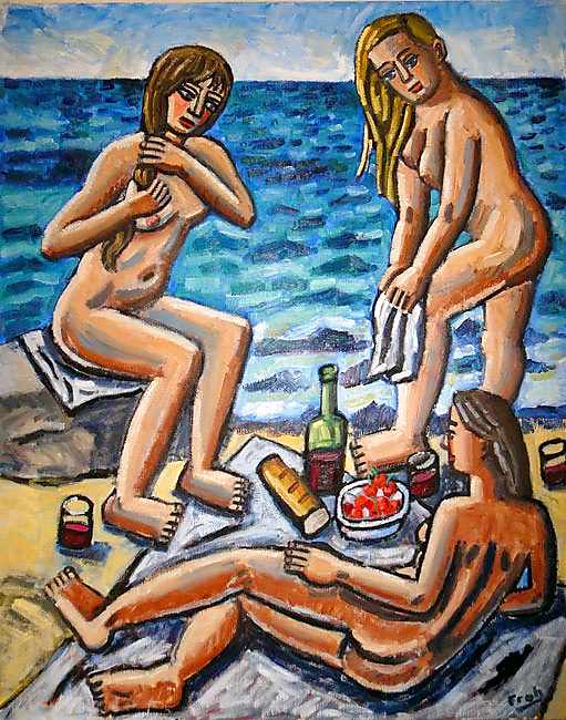 Bathers, Collioure, 2012, oil on linen, 162x130cm