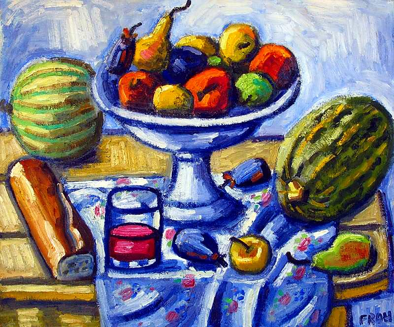 Still life with Melons, 2012, oil on linen, 46x55cm