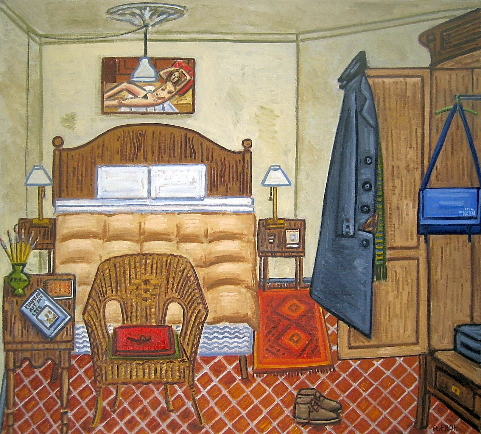 """Bedroom, Barcelona (Winter)"", 2017, oil on linen, 73x81cm"