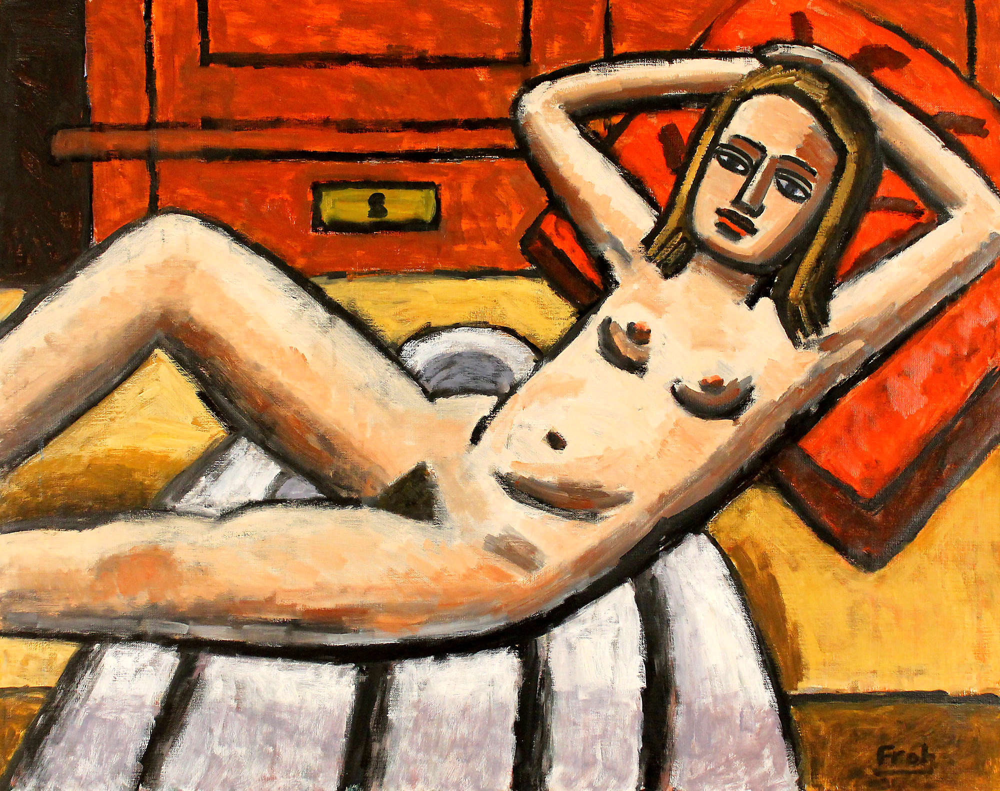 Reclining Nude, 2011, oil on linen, 73x92cm