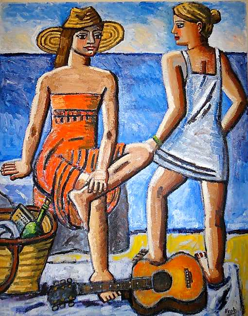Bathers, Collioure (Homage to Antonio Machado), 2012, oil on linen, 162x130cm