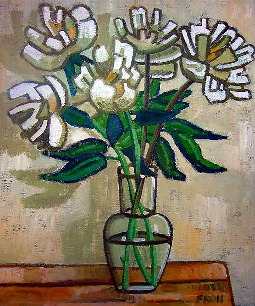"""Anna's Flowers"", 2011, oil on linen, 61x50cm"