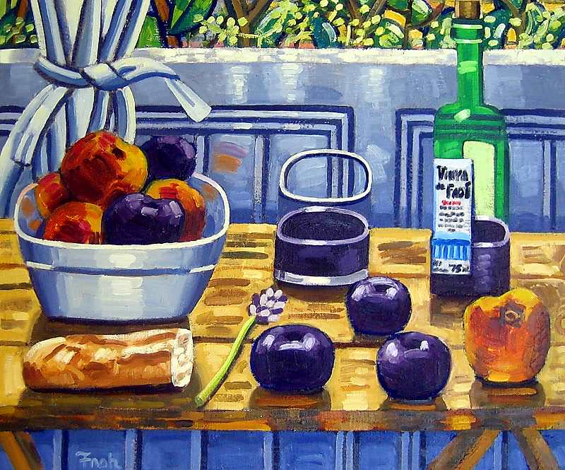 Still life with Lavender (for Luis Ibanez), 2011, oil on linen, 60x73cm