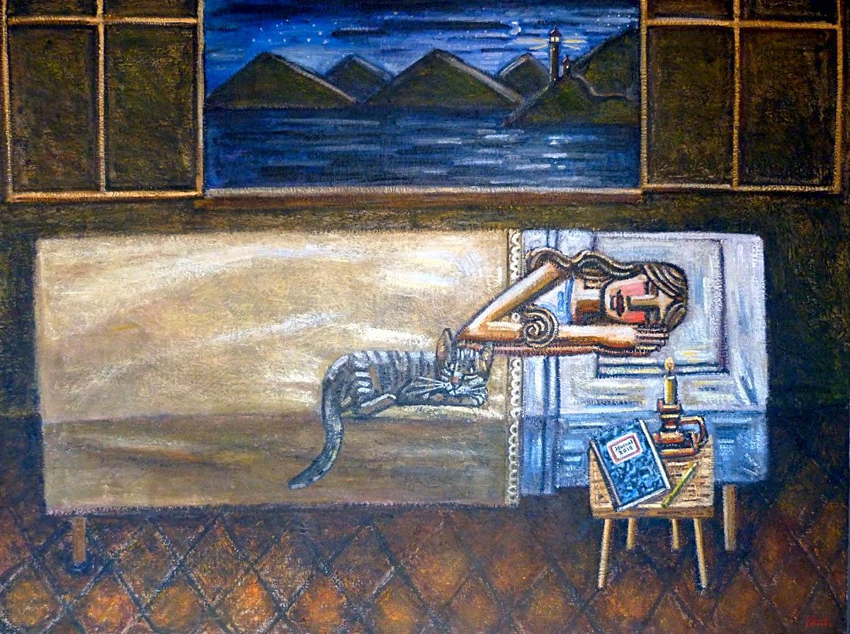"""""""El Sueño"""", 2018, oil on linen, 2016, 97x130cm"""