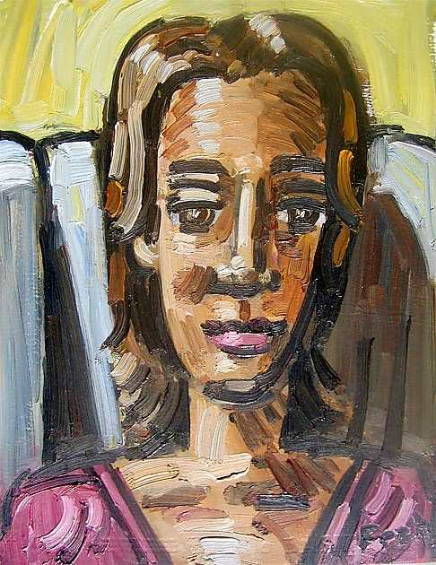 """Portrait of Lucie"", 2009, oil on paper, 27x22cm"