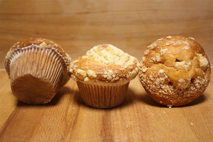 Muffin gourmand fruits rouges