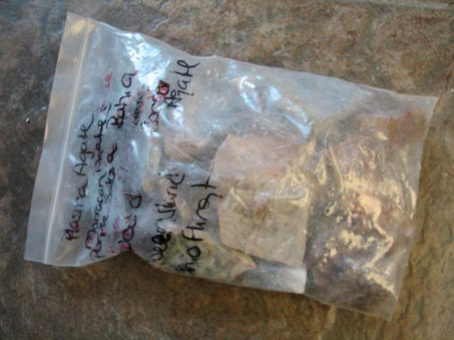 bag of mixed rock
