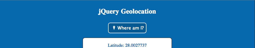 Screenshot of jQuery Geolocation