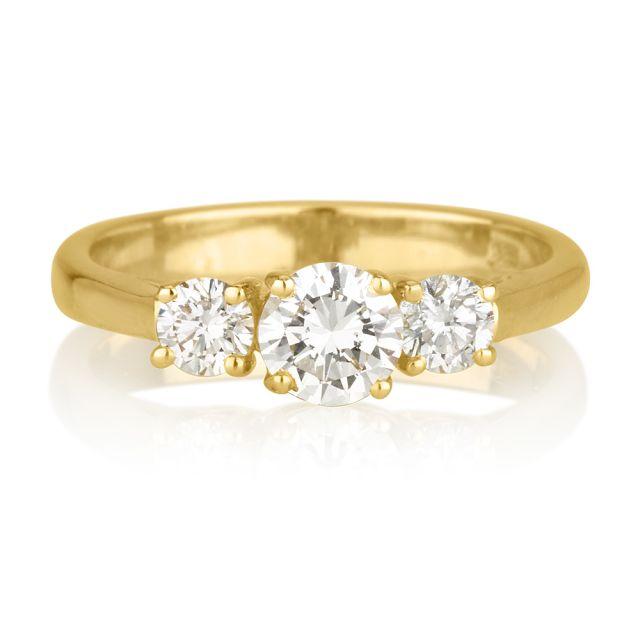 טבעת אירוסין מודל לורין זהב צהוב