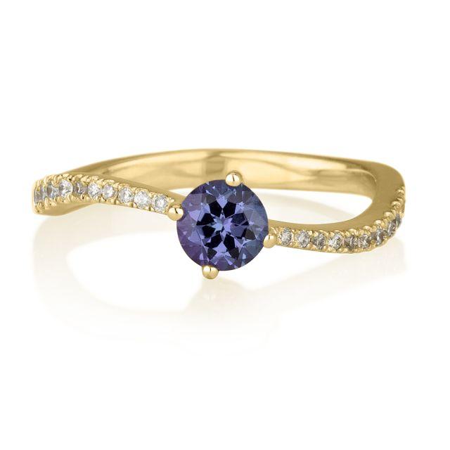 טבעת אירוסין מודל ים זהב צהוב