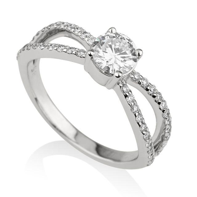 טבעת אירוסין דגם מוס