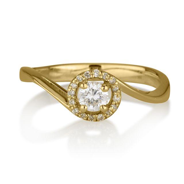 טבעת אירוסין אדריאנה - זהב צהוב