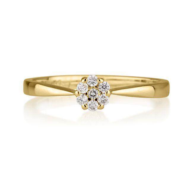 טבעת אירוסין ג'יזל זהב צהוב