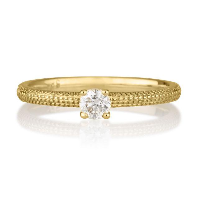 טבעת אירוסין טיה זהב צהוב