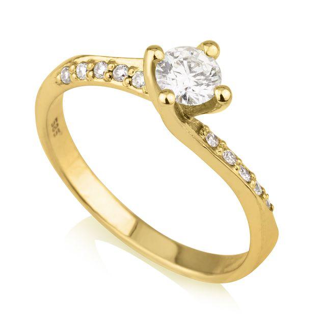 טבעת אירוסין סול זהב צהוב