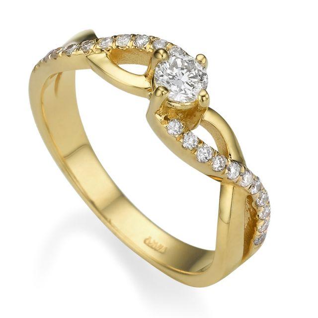 טבעת אירוסין דגם קלי