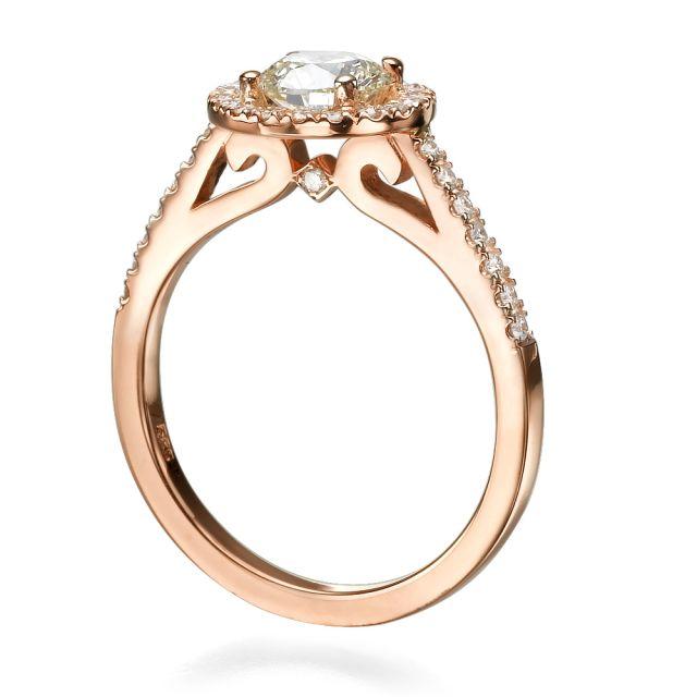 טבעת אירוסין לני זהב אדום