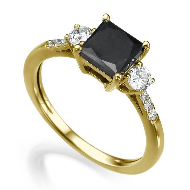 טבעת אירוסין גלן זהב צהוב