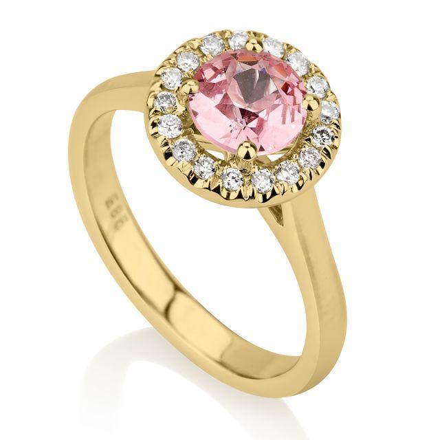 טבעת אירוסין ליילה זהב צהוב
