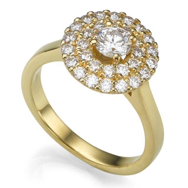 טבעת אירוסין תבל זהב צהוב